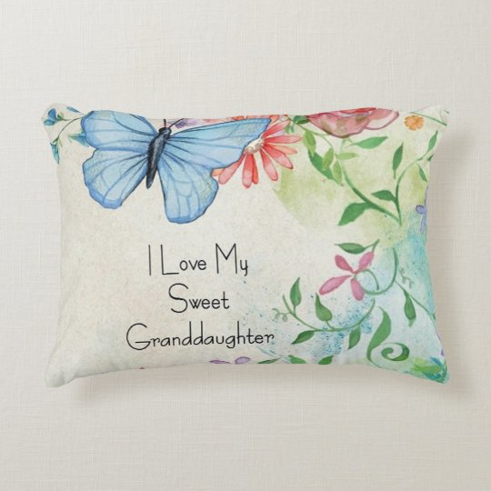 I Love My Sweet Granddaughter Decorative Cushion