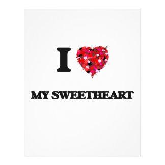 I love My Sweetheart 21.5 Cm X 28 Cm Flyer