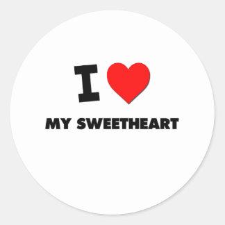 I love My Sweetheart Round Sticker