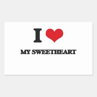 I love My Sweetheart Rectangular Sticker