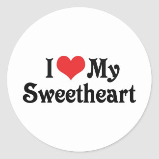 I Love My Sweetheart Sticker