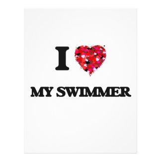 I love My Swimmer 21.5 Cm X 28 Cm Flyer