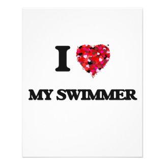 I love My Swimmer 11.5 Cm X 14 Cm Flyer