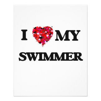 "I love my Swimmer 4.5"" X 5.6"" Flyer"