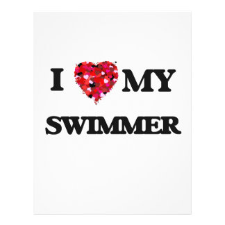 "I love my Swimmer 8.5"" X 11"" Flyer"