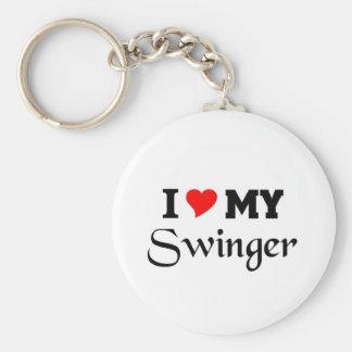 I love my Swinger Basic Round Button Key Ring