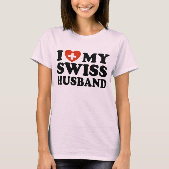 I Love My Swiss Husband T-Shirt
