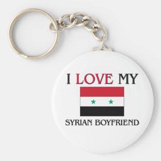 I Love My Syrian Boyfriend Basic Round Button Key Ring