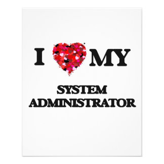 I love my System Administrator 11.5 Cm X 14 Cm Flyer