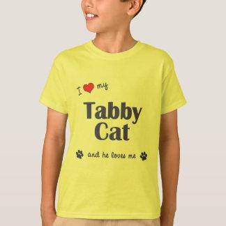I Love My Tabby Cat (Male Cat) T-Shirt