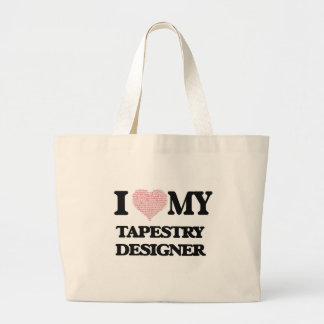 I love my Tapestry Designer (Heart Made from Words Jumbo Tote Bag