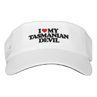I LOVE MY TASMANIAN DEVIL VISOR