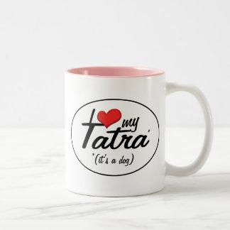 I Love My Tatra (It's a Dog) Two-Tone Coffee Mug