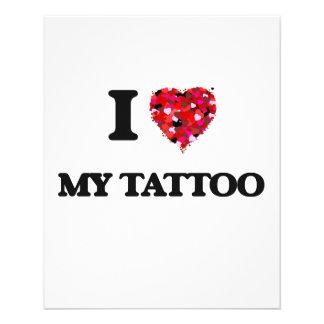 I love My Tattoo 11.5 Cm X 14 Cm Flyer