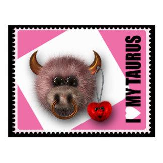 I Love My Taurus Postcard