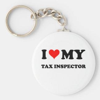 I Love My Tax Inspector Keychains