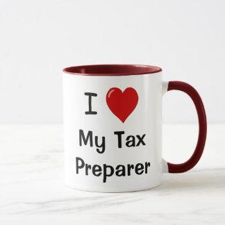 I Love My Tax Preparer / Loves Me Mug