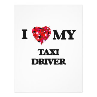 I love my Taxi Driver 21.5 Cm X 28 Cm Flyer