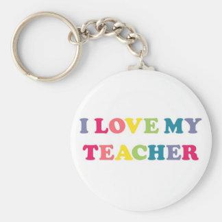I Love My Teacher Basic Round Button Key Ring
