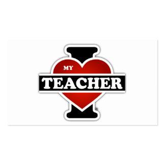 I Love My Teacher Pack Of Standard Business Cards