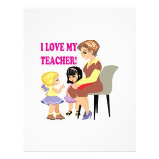 I Love My Teacher Flyers