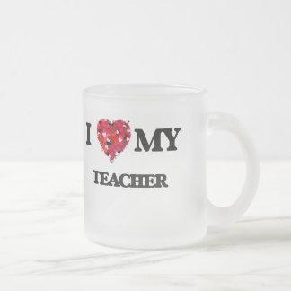 I love my Teacher Frosted Glass Mug
