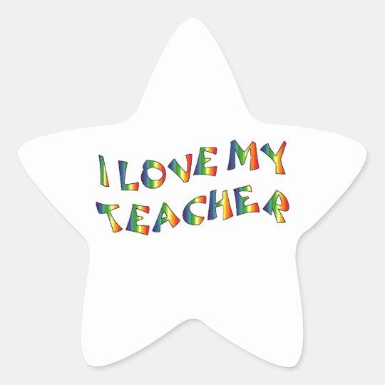 I Love My Teacher (thank you) Rainbow Appreciation