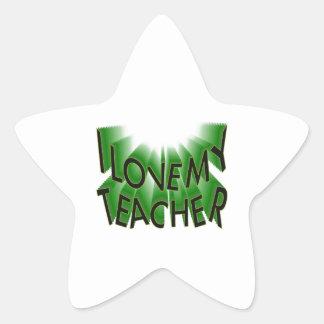 I Love My Teacher (thank you) Star Sticker