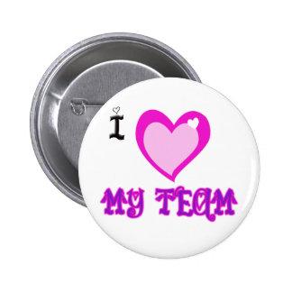 I LOVE My Team 6 Cm Round Badge