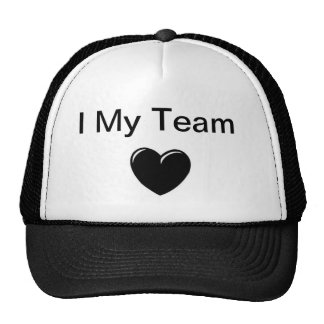 I Love My Team Cap