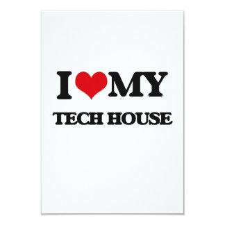 I Love My TECH HOUSE Custom Invitations