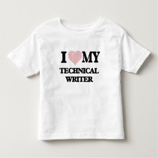 I love my Technical Writer (Heart Made from Words) Shirt