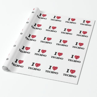 I Love My TECHNO Wrapping Paper