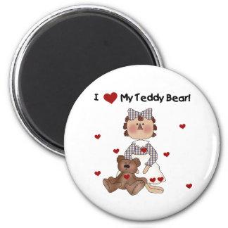 I Love My Teddy Bear 6 Cm Round Magnet
