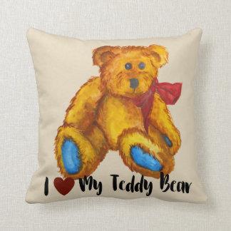I Love My Teddy Bear Cushion