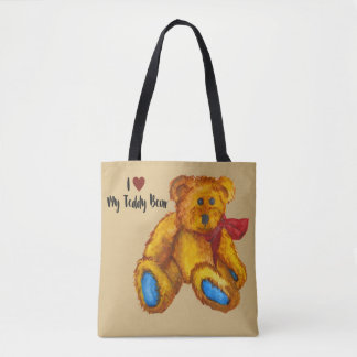 I Love My Teddy Bear Tote Bag