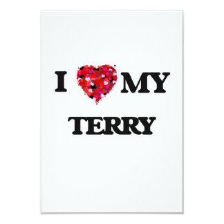 I love my Terry 9 Cm X 13 Cm Invitation Card