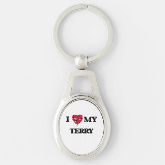I love my Terry Silver-Colored Oval Key Ring