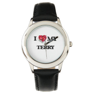 I Love MY Terry Wrist Watches