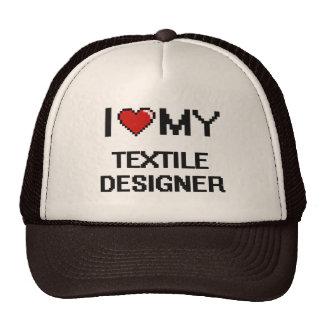 I love my Textile Designer Trucker Hat