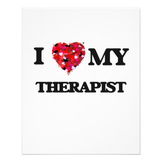I love my Therapist 11.5 Cm X 14 Cm Flyer