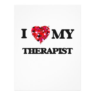 I love my Therapist 21.5 Cm X 28 Cm Flyer