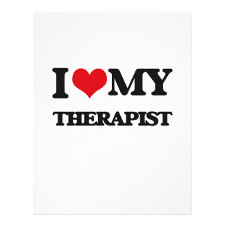 I love my Therapist Full Color Flyer