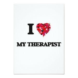 I love My Therapist 13 Cm X 18 Cm Invitation Card
