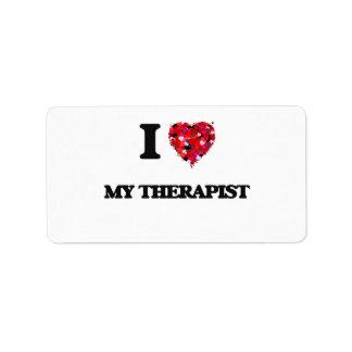 I love My Therapist Address Label