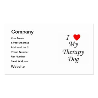 I Love My Therapy Dog Double-Sided Standard Business Cards (Pack Of 100)