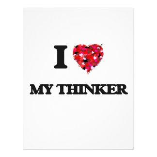 I love My Thinker 21.5 Cm X 28 Cm Flyer