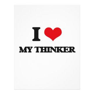 I love My Thinker Flyer Design