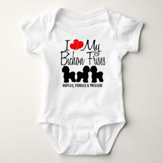I Love My THREE Bichon Frises Baby Bodysuit