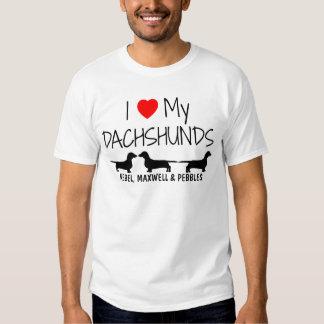I Love My Three Dachshunds Tshirt